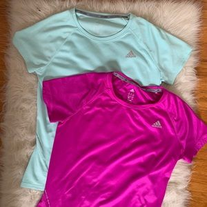 ADIDAS Lot of 2 Climalite Running Tops